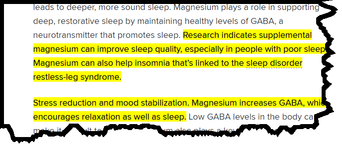 Resurge magnesium for sleep