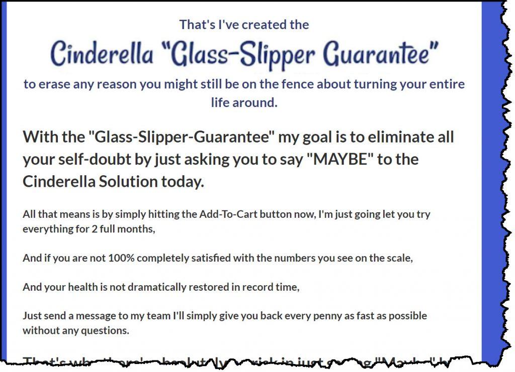 Cinderella Solution guarantee